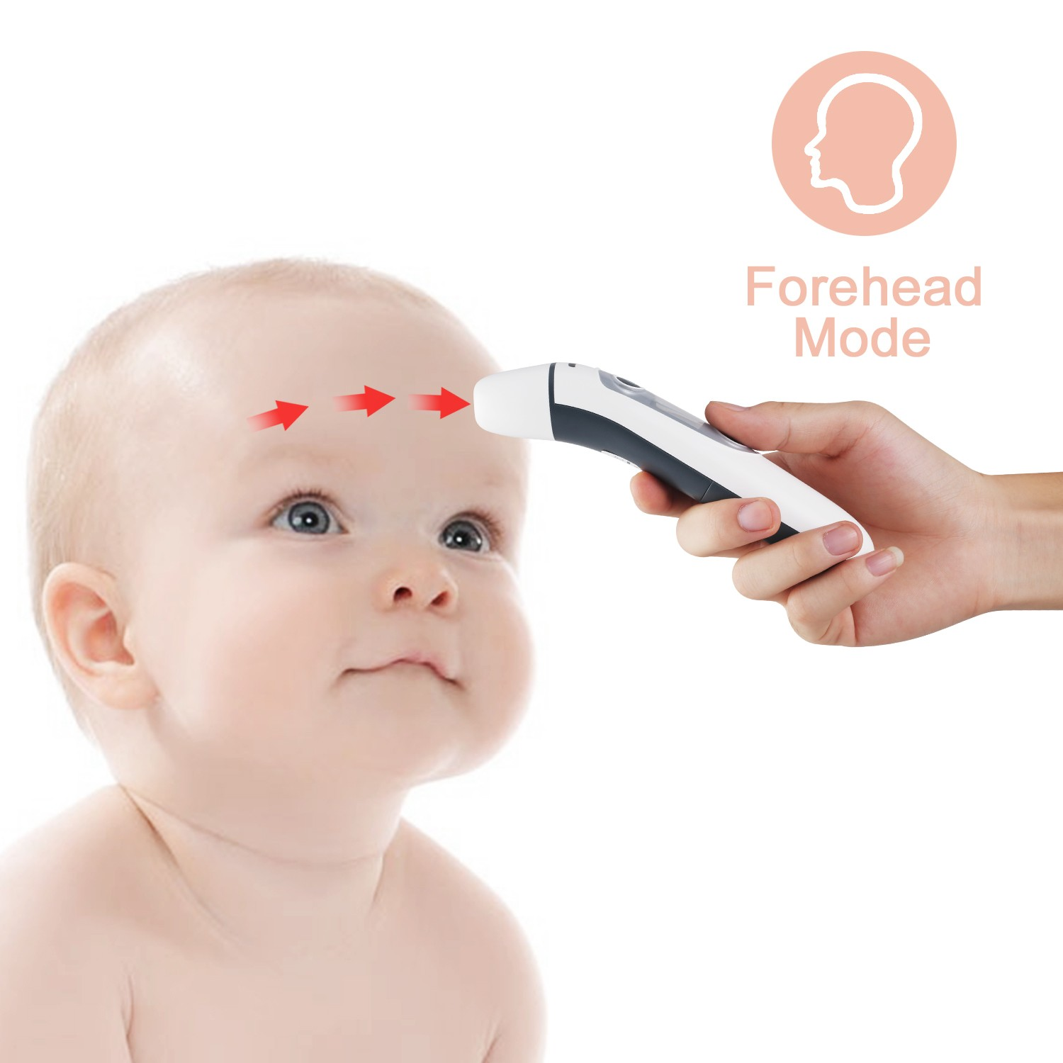 IR100 2018 NEW dual mode ear and forehead baby thermometer