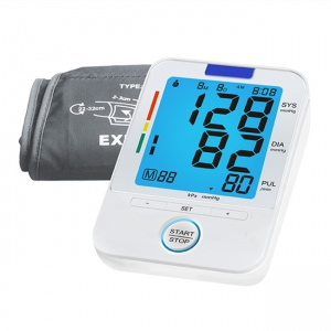 Upper Arm Blood Pressure Monitor with Blue Backlight Voice