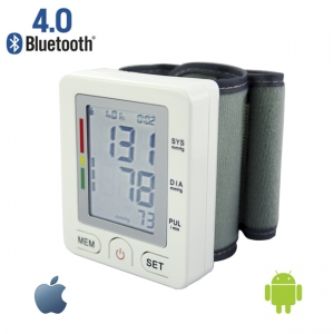 IOS Android online healthcare bluetooth wrist blood pressure meter