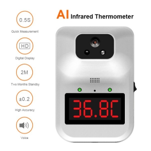 11 languages Voice type wall-mounted non contact forehead thermometer
